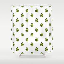 Avocado Hearts (white background) Shower Curtain