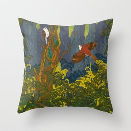 Can't See the Wood for the Treecreepers Throw Pillow