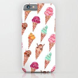 Ice Cream Cones – Rainbow Palette iPhone Case