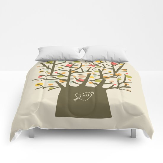"The ""I love you"" tree Comforters"