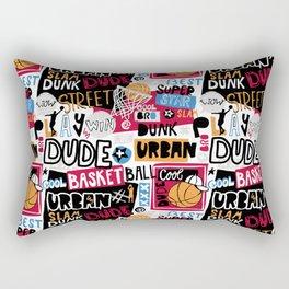 Basketball pattern. Cool dude. Rectangular Pillow