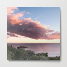 Sunset At The Chateau Metal Print