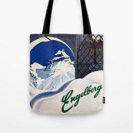 Vintage Engelberg Switzerland Travel Tote Bag