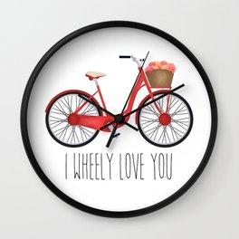 I Wheely Love You Wall Clock