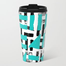 Signs - black & turquoise Travel Mug