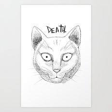 DEATH. (White) Art Print