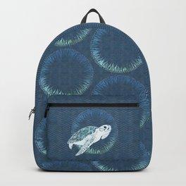Green Sea Turtle Wreath Backpack