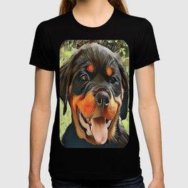 Chubby Rottweiler Puppy T-shirt