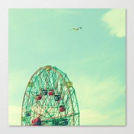 Turquoise Wonder Wheel Canvas Print