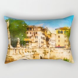 Rome Cityscape Rectangular Pillow