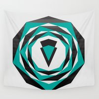 arya Wall Tapestries featuring Decahedron Hexagon combined! by Hinal Arya