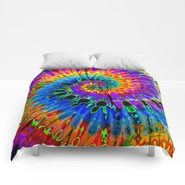 Spun Out Hippie Comforters