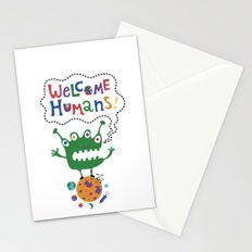 Welcome Humans Stationery Cards