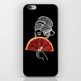 Blood Orange Geisha iPhone Skin