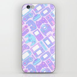 Video Game Controllers in Pastel Colors iPhone Skin