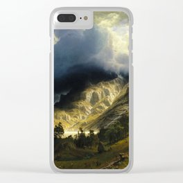 Albert Bierstadt - A Storm in the Rocky Mountains, Mt. Rosalie Clear iPhone Case