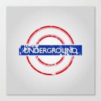 velvet underground Canvas Prints featuring Underground by eARTh