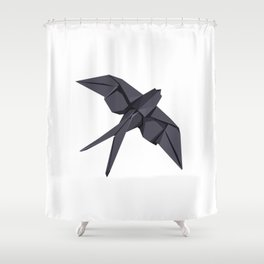 Origami Swallow Shower Curtain