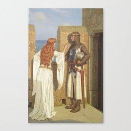The Shadow by Edmund Blair Leighton Canvas Print