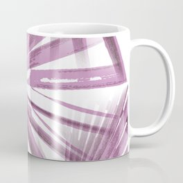 Lilac on White Tropical Vibes  Beach Palmtree Vector Coffee Mug