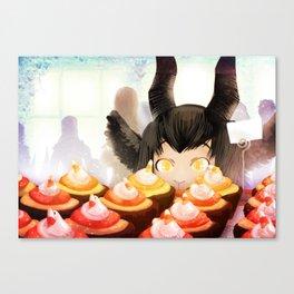 Candy Corn Cupcakes Canvas Print
