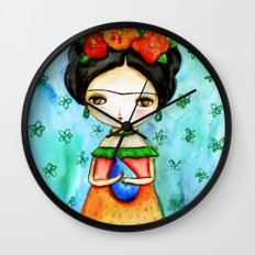 Frida And Her Tears Wall Clock