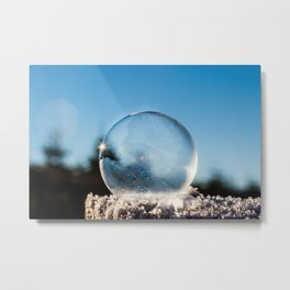 Frozen Bubble in the Winter's Air Metal Print