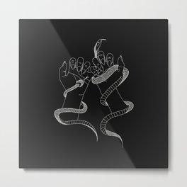 You and I - Snake Illustration Metal Print