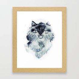 minnoş kedi Framed Art Print