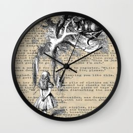 Alice and Cat Wall Clock