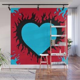 Flaming Heart Wall Mural