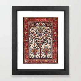 Bakhtiari Khan Central Persian Carpet Print Framed Art Print