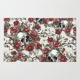 Skulls and Roses or Les Fleurs du Mal Rug
