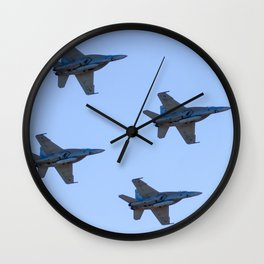 Avalon Airshow - RAAF FA-18 Hornets - Formation Flying Wall Clock