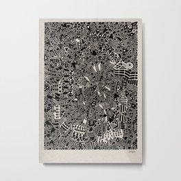 - blackout - Metal Print