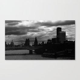 Silence in London Canvas Print