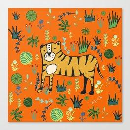 Jungle Tiger Orange Canvas Print