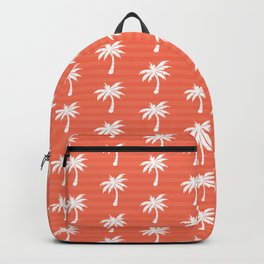 Palm tree pattern with stripes Backpack
