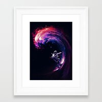 surfing Framed Art Prints featuring Space Surfing by nicebleed