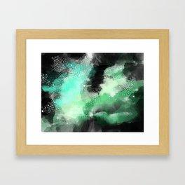 Galaxy Space Pattern Framed Art Print