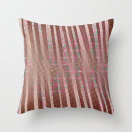 Flowers and lines S12 Throw Pillow