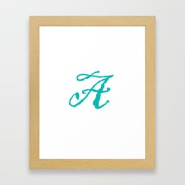 """""""A"""" // Initals // Monograms // Names Framed Art Print"""