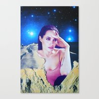 angelina jolie Canvas Prints featuring Angelina Jolie by John Turck