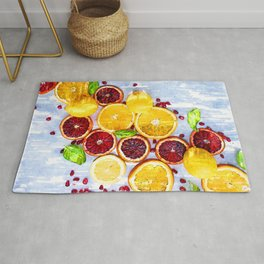 Bunch of Citrus Vitamin C - For Fruit Lovers Rug