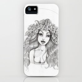 JennyMannoArt Graphite Drawing/Arianna iPhone Case