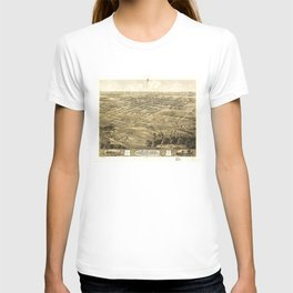 Bird's Eye View of Chillicothe, Missouri (1869) T-shirt
