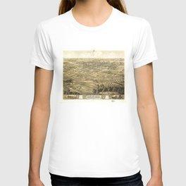 Bird's Eye View of Chillicothe, Missouri (1869) T-shirt