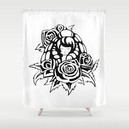 Rose Quartz Tattoo Version 1 Shower Curtain