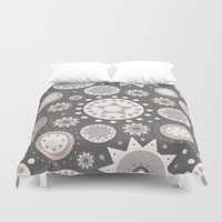 milky way Duvet Covers featuring Milky Way by Moon Rabbit Design