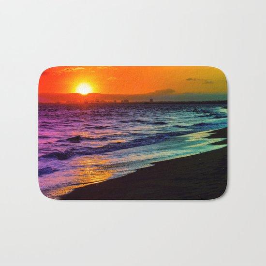 Rainbow Sunset Bath Mat